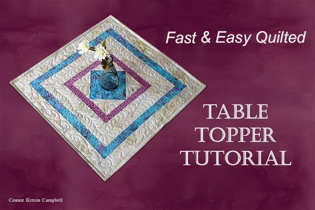 Square in a square table topper quilting fb