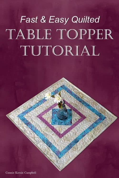 Square in a square table topper tutorial pin