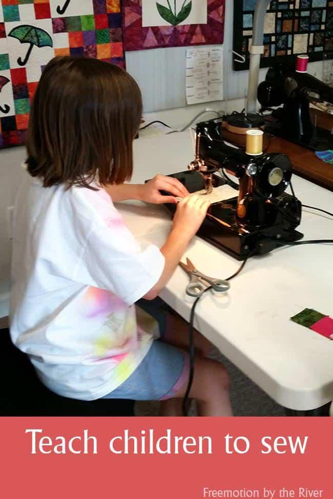 Teach children to sew