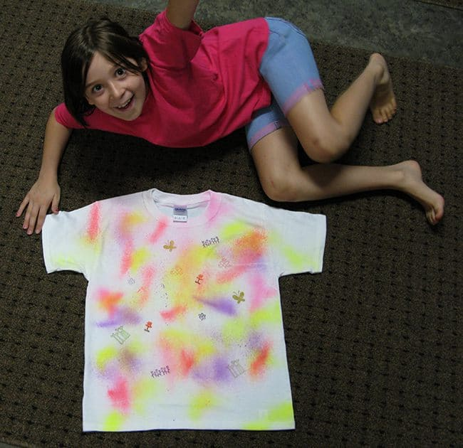 DIY Fabric Painted T-Shirts