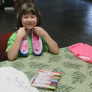 Tulip Paints on tennis shoes DIY project