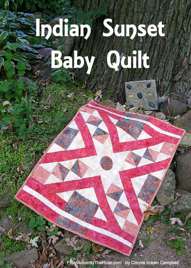 Indian Sunset Baby Quilt