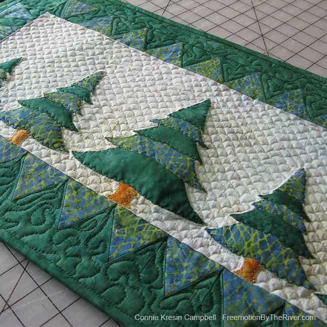 Evergreens Wall Hanging in Best Christmas Quilts from Quilters Newsletter