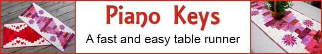 Piano Keys Table Runner