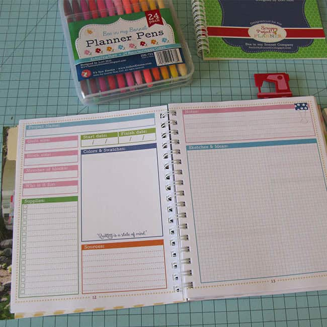 Scrappy Quilt Project Planner for quilts