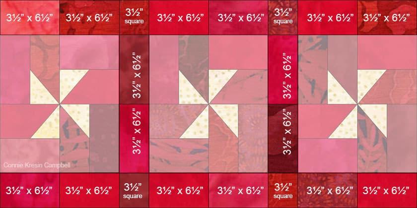 Christmas Pinwheels Border diagram