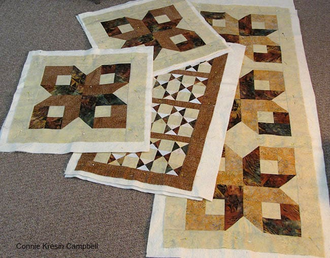 Box Block projects that are ready to be quilted