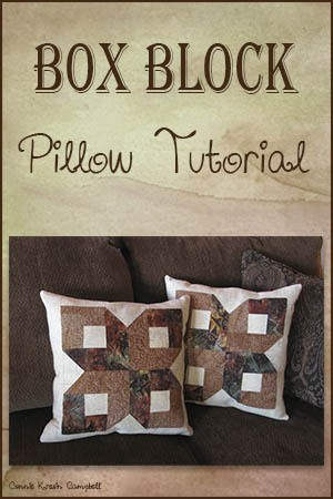 Box Block Pillow Tutorial at Freemotion by the River
