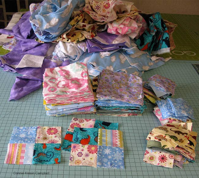 Scraps from PJs turned into a quilt