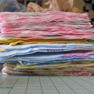 Flannel scraps turned into blocks