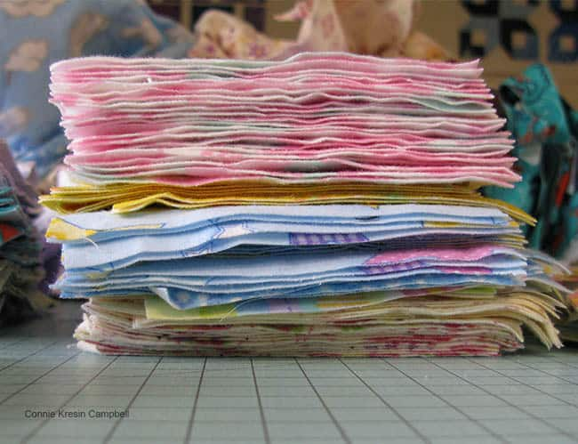 Flannel scraps turned into blocks