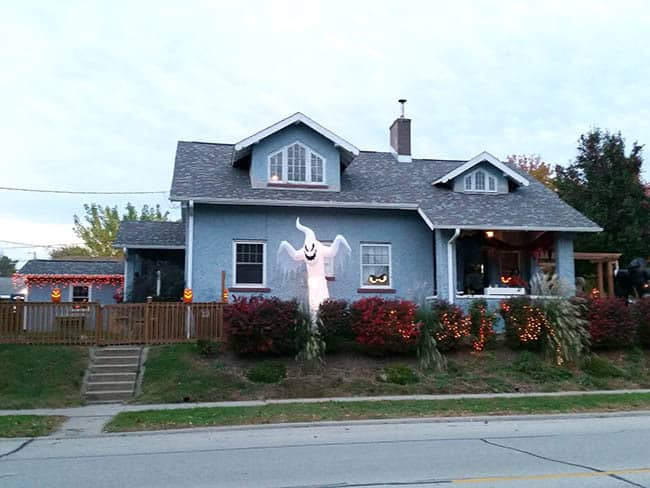 Halloween decorated house