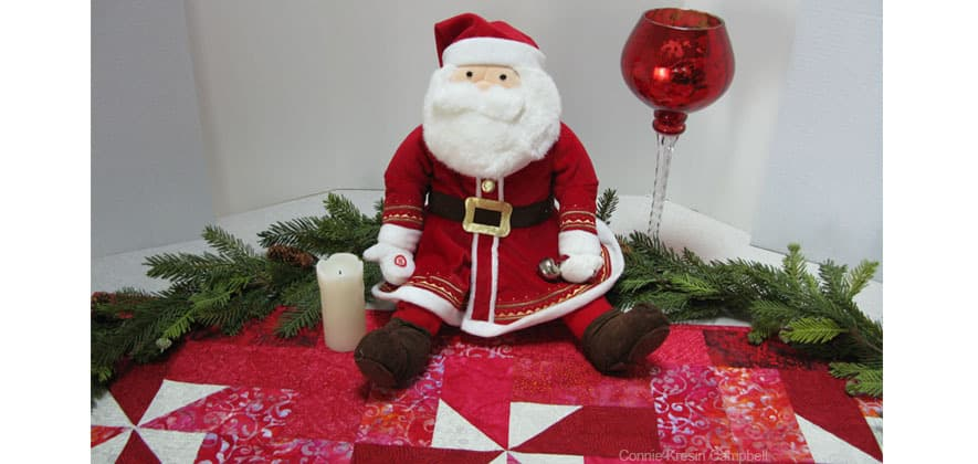Santa on AccuQuilt Table Runner