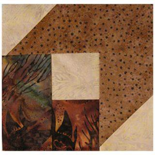 Single batik quilt block