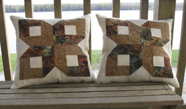 Box Quilt Block Pillow Tutorial
