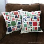 Christmas pillows scattered pattern