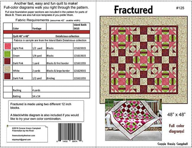 Fractured quilt pattern cover