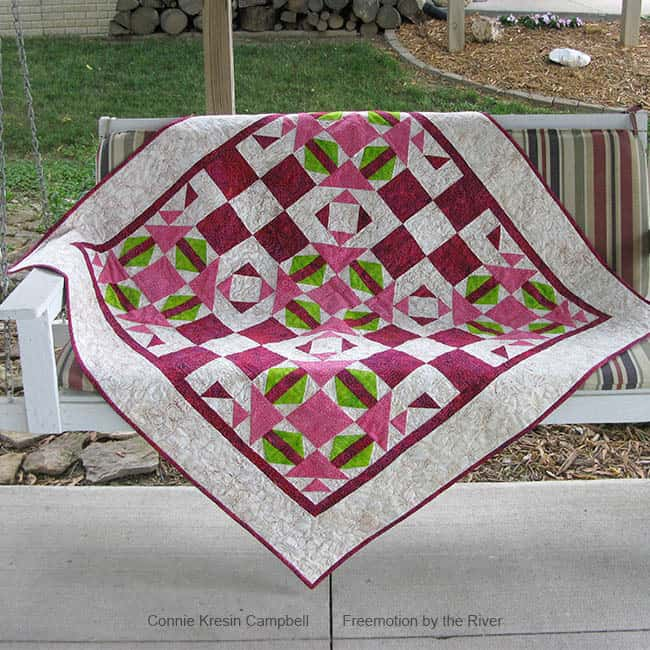Fractured quilt on a swing pattern