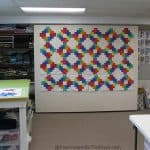 Design wall with quilt on it
