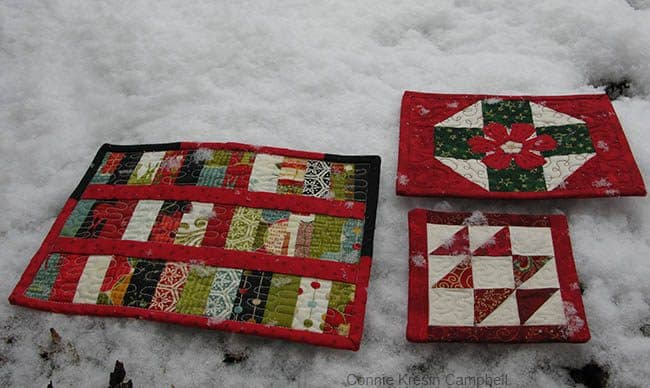 Mug Rugs for Christmas