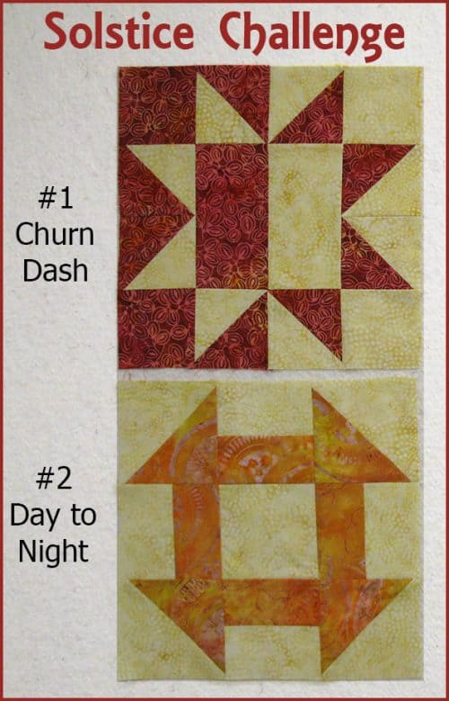 Solstice Challenge free quilt block patterns