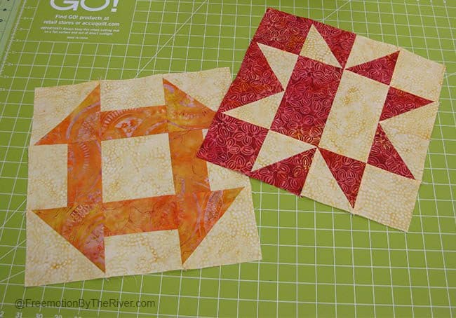 Solstice Challenge Batik Quilt Blocks
