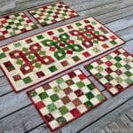 Christmas runner and placemats tutorial