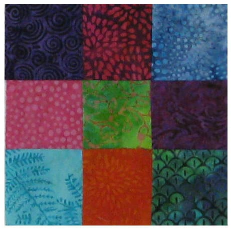 9 Patch Batik block