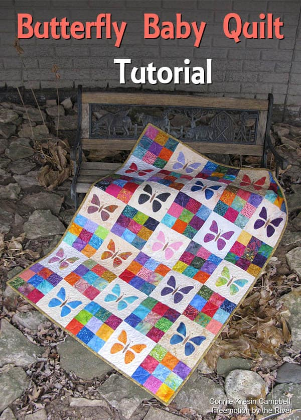 Scrappy Butterfly Baby Quilt Tutorial • Freemotion by the River : butterfly baby quilt pattern - Adamdwight.com