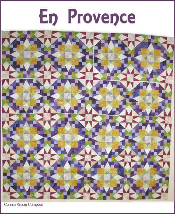En Provence quilt by Bonnie Hunter