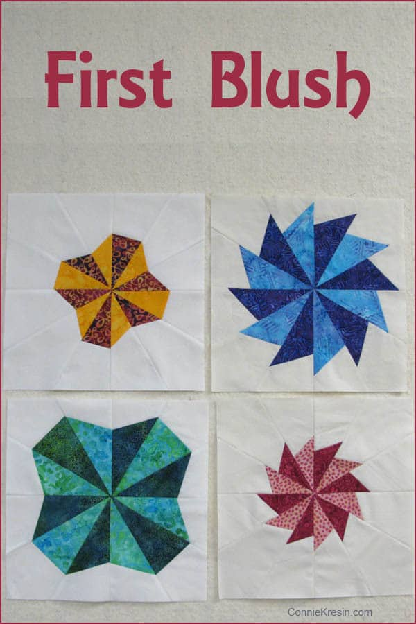 First Blush book using Creative Grids Starburst 30 degree ruler and batiks