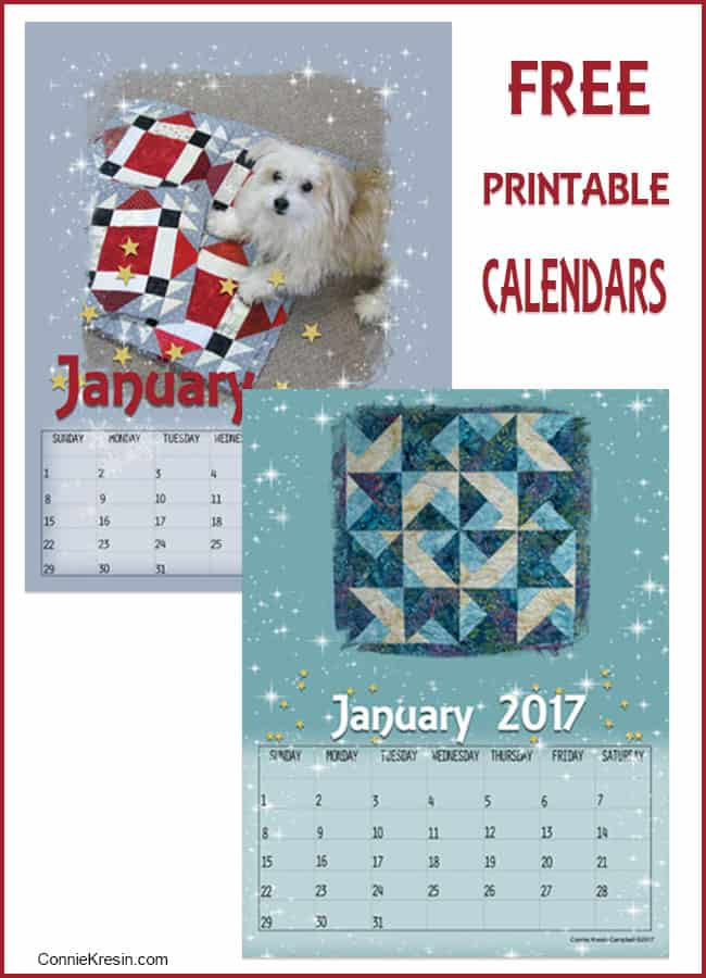 January Free Printable Calendars at Freemotion by the River