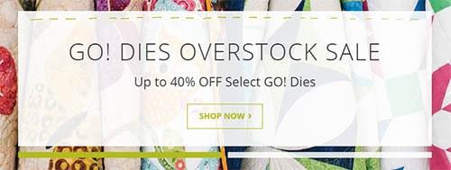 AccuQuilt Go Overstock sale
