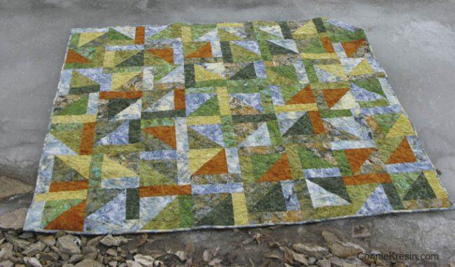 Free Pattern Lake Life Batiks Quilt