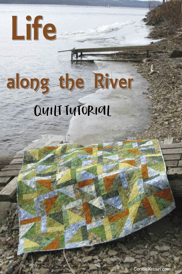 Quilt tutorial Life along the river