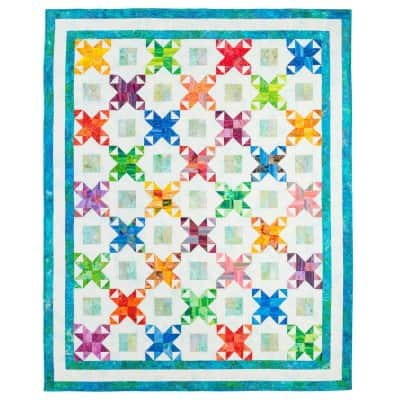 Free quilt pattern Star Surprise Throw
