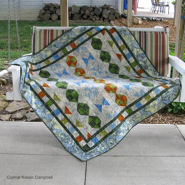 Starboard Quilt Pattern on swing