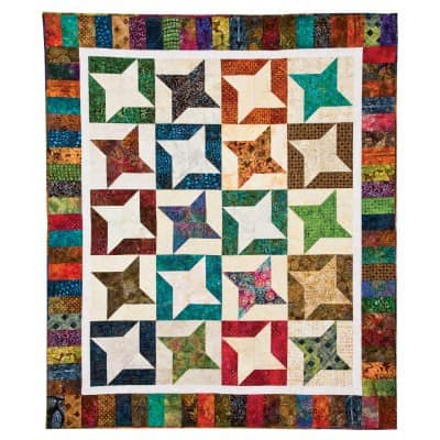 Free Quilt Pattern Twirling Stars