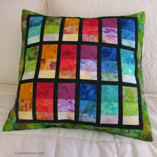 Batik Strip Pillow from 2012