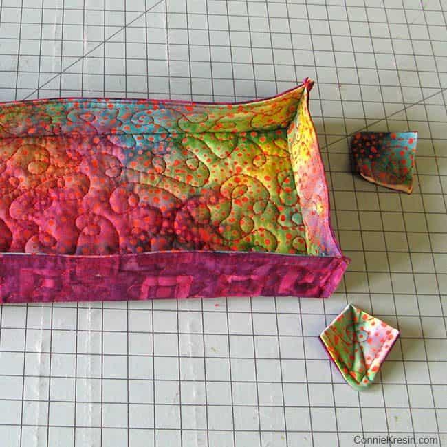 Batik Thread basket cut corners
