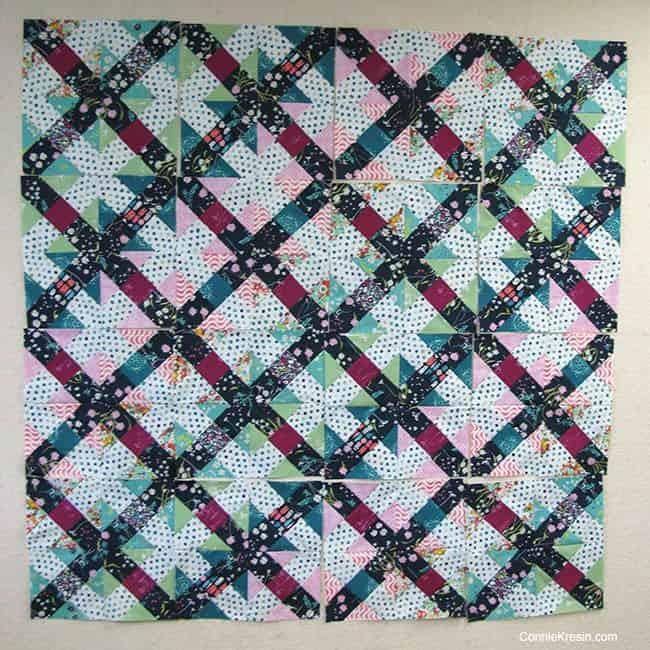 Filigree Free quilt pattern blocks on the design wall