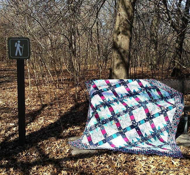 Filigree free quilt at the park