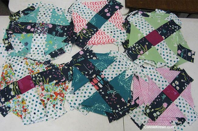 Filigree free quilt pattern block piecing