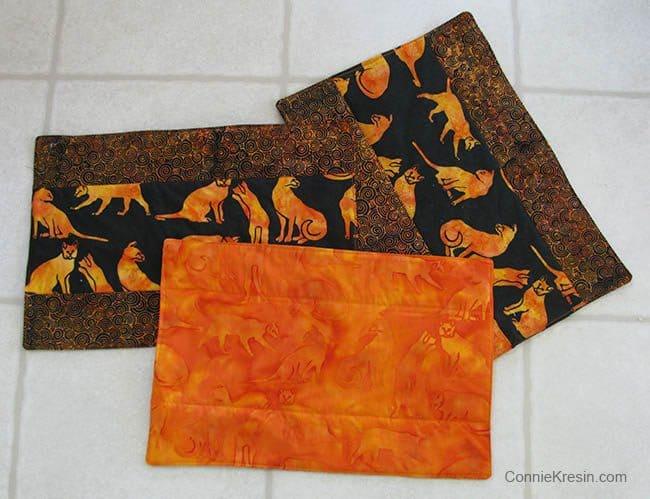 Island Batik Kennel quilt back