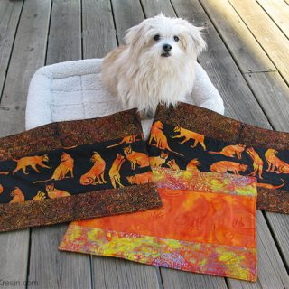 Sadie with Kennel quilts