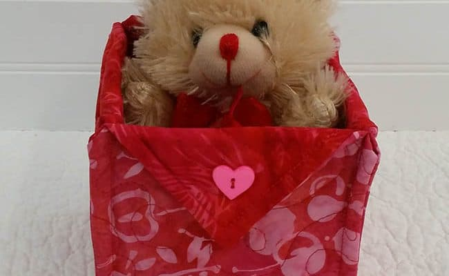 Happy Valentine's Day Fabric Baskets and Linky Tuesday