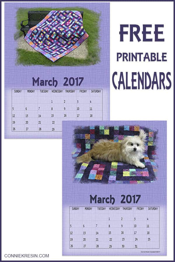 March 2017 Free Printable Calendars