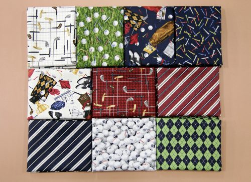 Northcott Fabrics 3 Fat Quarters From The Golf Collection