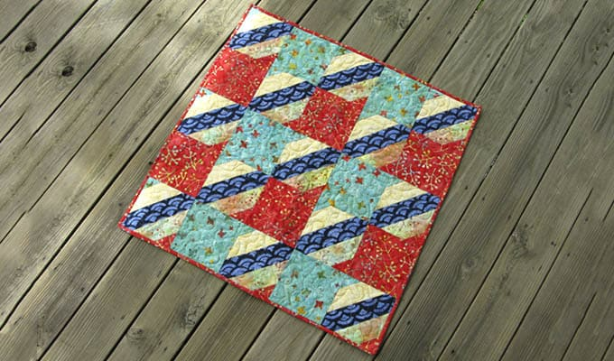 Jelly Roll Check Free Quilt Pattern