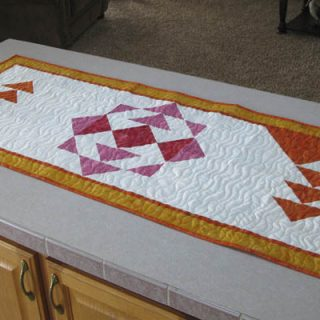 Sunshine table runner on counter